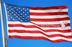 American Flag Mindy Metivier Photograph