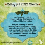 Calling All 2012 Clients!!!